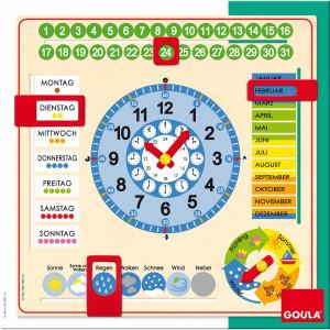 GOULA Horloge d'apprendre le temps, calendrier et semaine