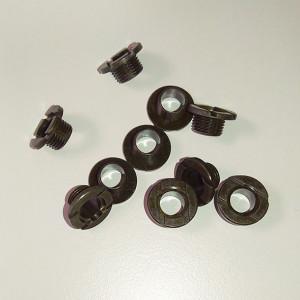 Vis centrales, noires 10 pièces/paquet. 5,0 mm
