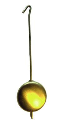 Pendule mécanique en laiton, jaune dépoli Longueur 32mm Ø:16mm