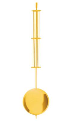 Mechanical offset pendulum brass yellow polished l: 600mm Ø: 140mm