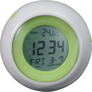 Quartz alarm clock with air purifier