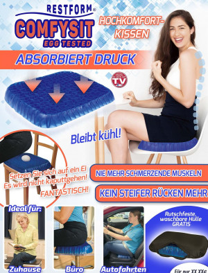 Comfysit Egg Tested high comfort pillow