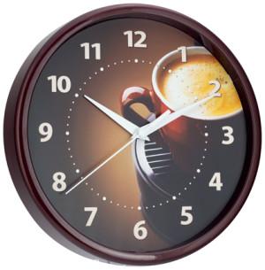 Quartz wall clock mocha