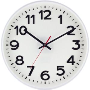 SELVA radio-controlled wall clock Kolbingen, white