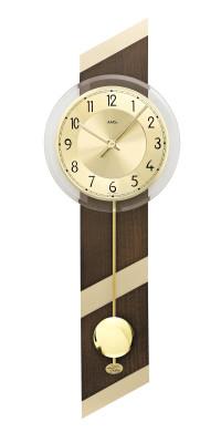AMS quartz pendulum wall clock walnut