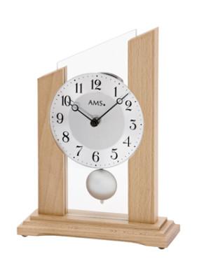 AMS quartz pendulum clock, solid beech