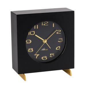 Atlanta 3104/7 Table clock quartz black