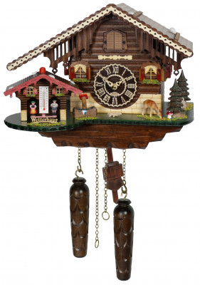 Cuckoo clock with weather house Sonnenbühl