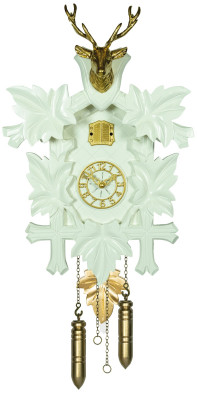 Cuckoo clock Effectline gold - white