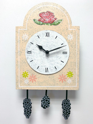 Pendulum sign clock cream