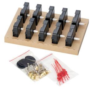 Quarz-Uhrwerke Set Dugena 838, 2x ZWL.10, 6x ZWL.16, 2x ZWL.20