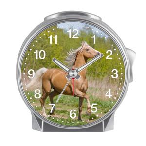 Children's alarm clock Horse - Horse on green meadow