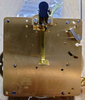 Home clock movement Hermle 261-080, 8 days, pendulum 23cm, stroke on bell