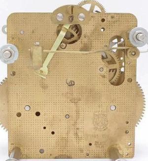 Regulatorwerk Hermle 141-071, 14-Tage, Pendellänge 60cm , Schlag auf Doppelglocke
