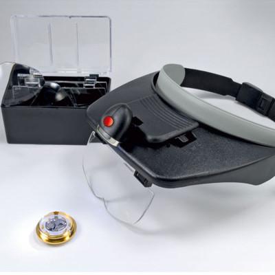 Binokularlupe/ Kopfbandlupe mit Beleuchtung