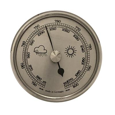 Baromètre instrument météo pour monter Ø 85mm, argenté