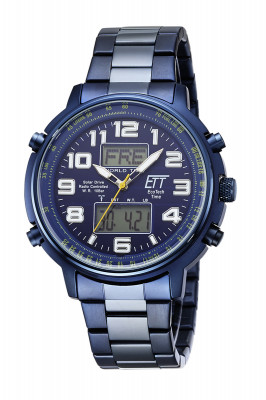 Eco Tech Time Solar Drive Radio Controlled Hunter II Men's Watch - EGS-11445-32M