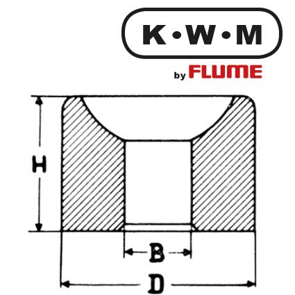 KWM-Einpresslager Messing L145, B 3,20-H 2,7-D 4,72 mm