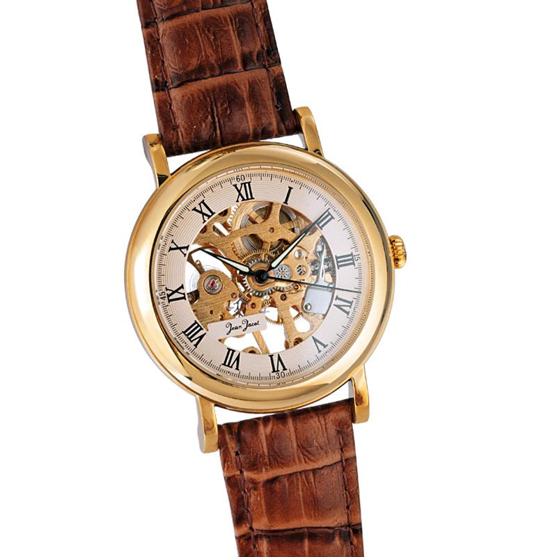 JEAN JACOT Handaufzug Herren-Armbanduhr