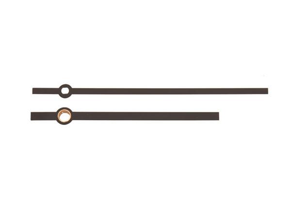 Zeigerpaar Euronorm Balken schwarz Minutenzeiger-L:100/ 75mm