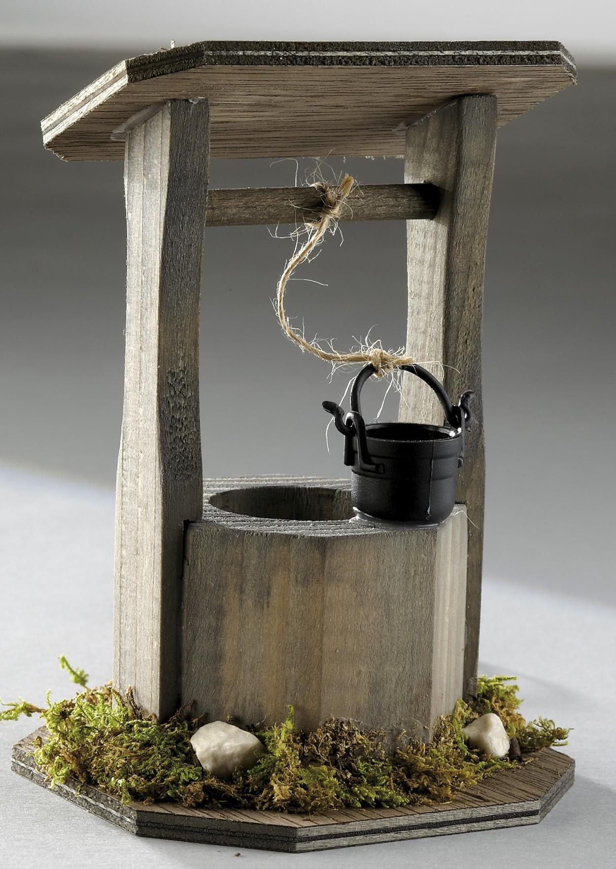Brunnen Mit Beleuchtung Bei Selva Schweiz