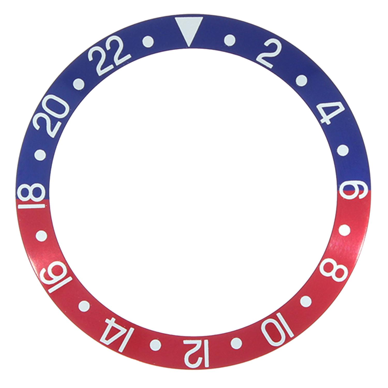 Lünetteneinlage RLX best passend 2-22, blau/ rot
