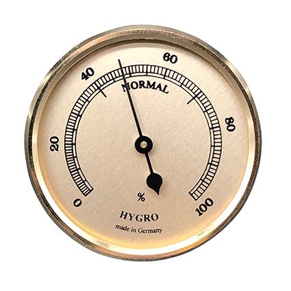 Hygrometer Einbau-Wetterinstrument Ø 65mm, gold