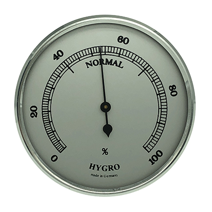 Hygrometer Einbau-Wetterinstrument Ø 65mm, silber