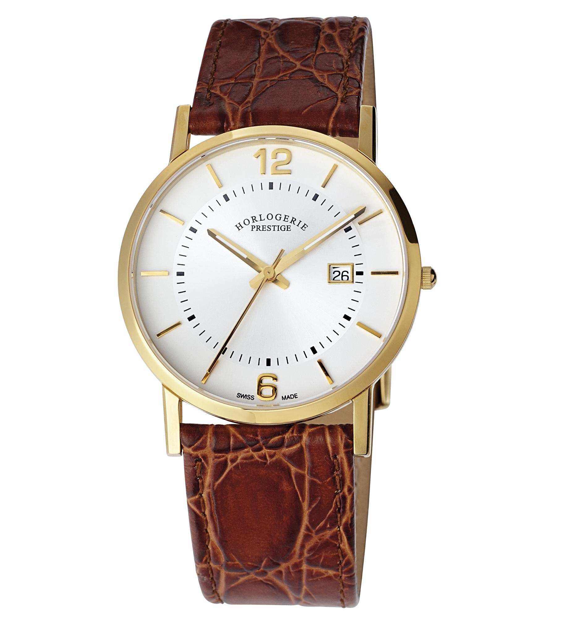 HORLOGERIE PRESTIGE Herren-Quarz-Armbanduhr